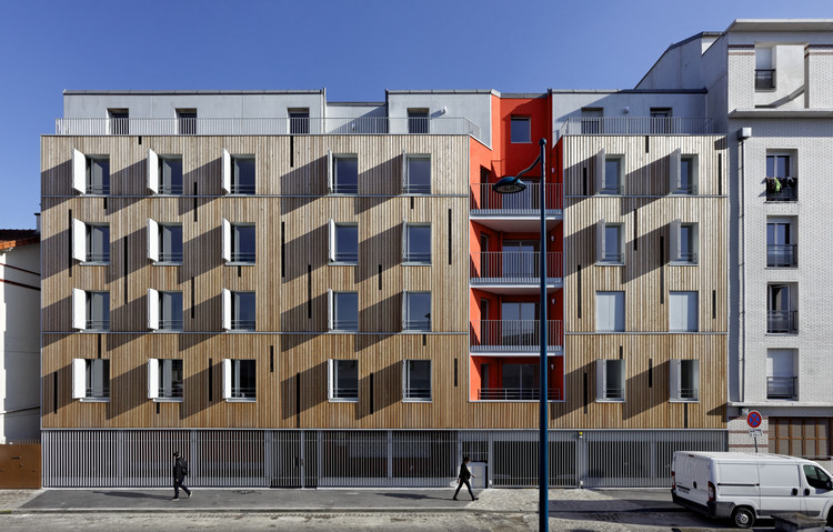 Apartment Building in Pantin / Benjamin Fleury Architecte-Urbaniste, © David Boureau
