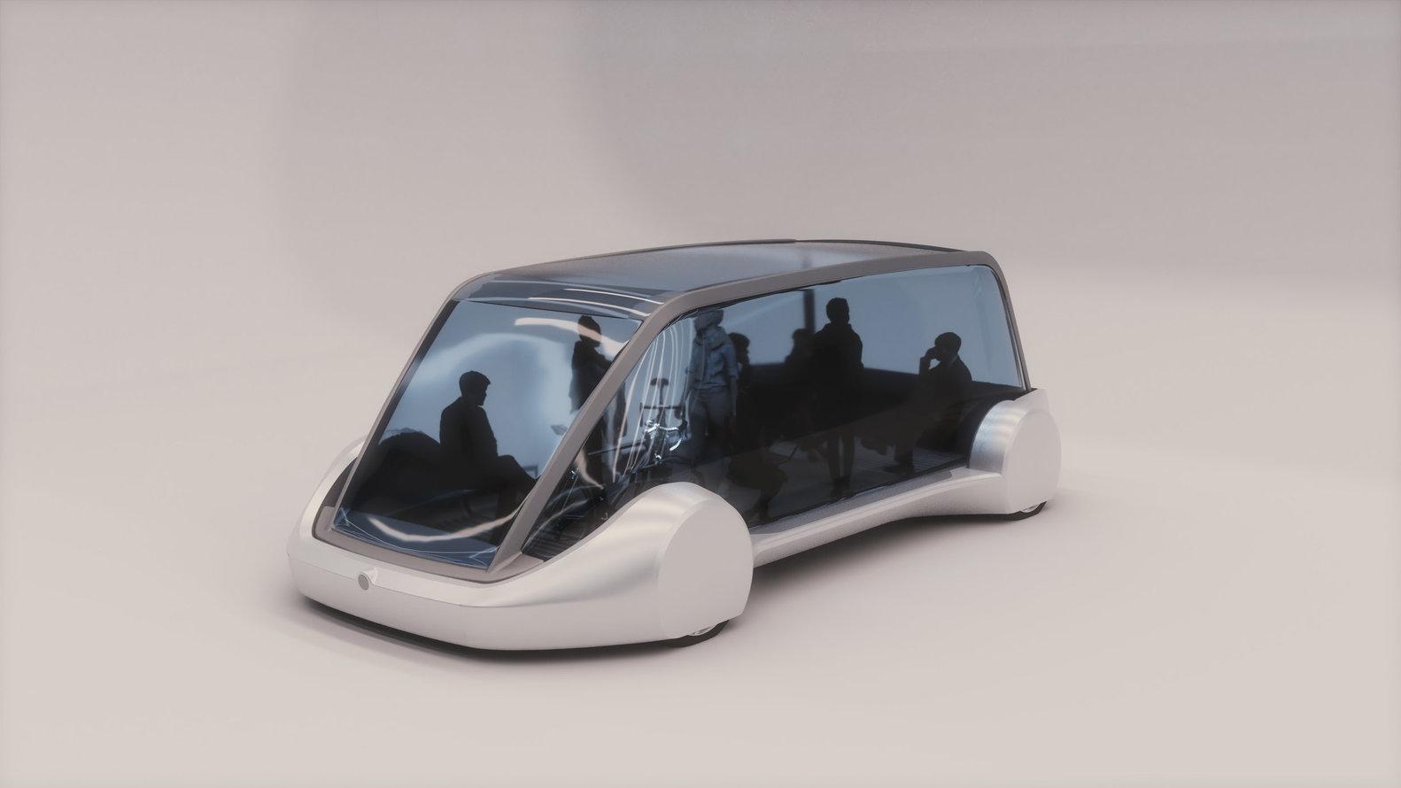 Prototipo de vehículo automático deslizante, destinado al uso común.