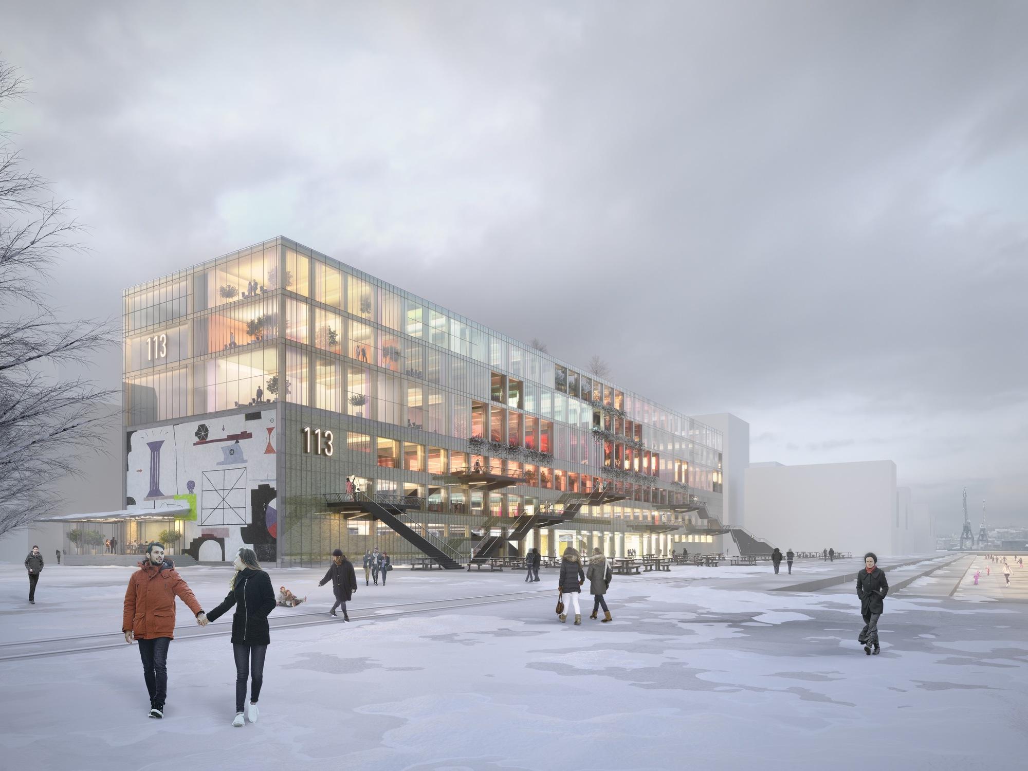 MVRDV e BSK divulgam projeto de recuperação de um antigo armazém em Gotemburgo