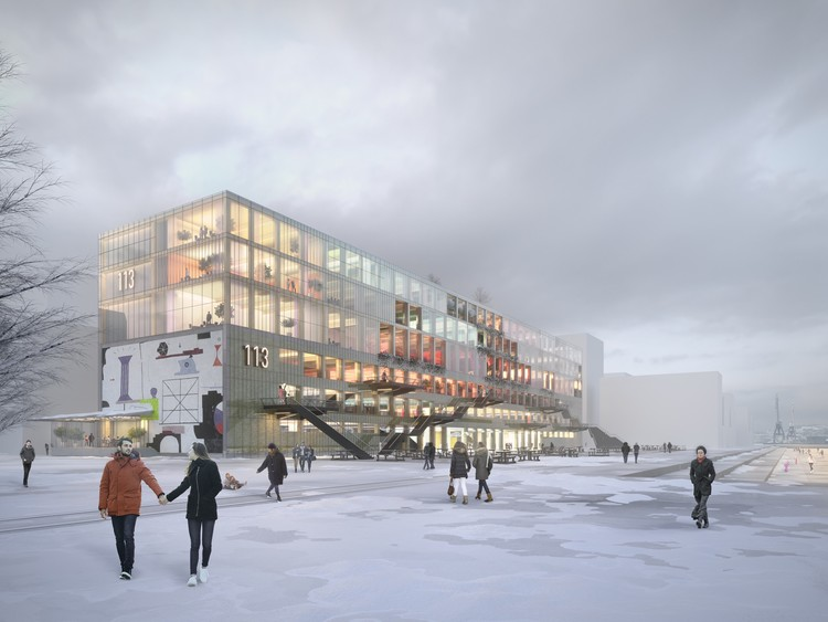 MVRDV and BSK To Add Timber Framed Structure to Historic Warehouse in Gothenburg, © MVRDV