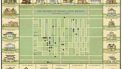 Esta ilustración muestra la evolución de Frank Lloyd Wright en sus diseños en Oak Park