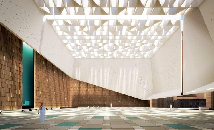 Projeto de mesquita na Arábia Saudita trabalha com a luz como elemento projetual, Cortesia de Schiattarella Associati