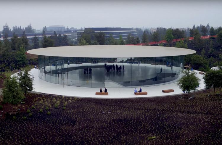 Novos detalhes do projeto do Auditório Steve Jobs na sede da Apple em Cupertino, Auditório Steve Jobs . Image © Duncan Sinfield