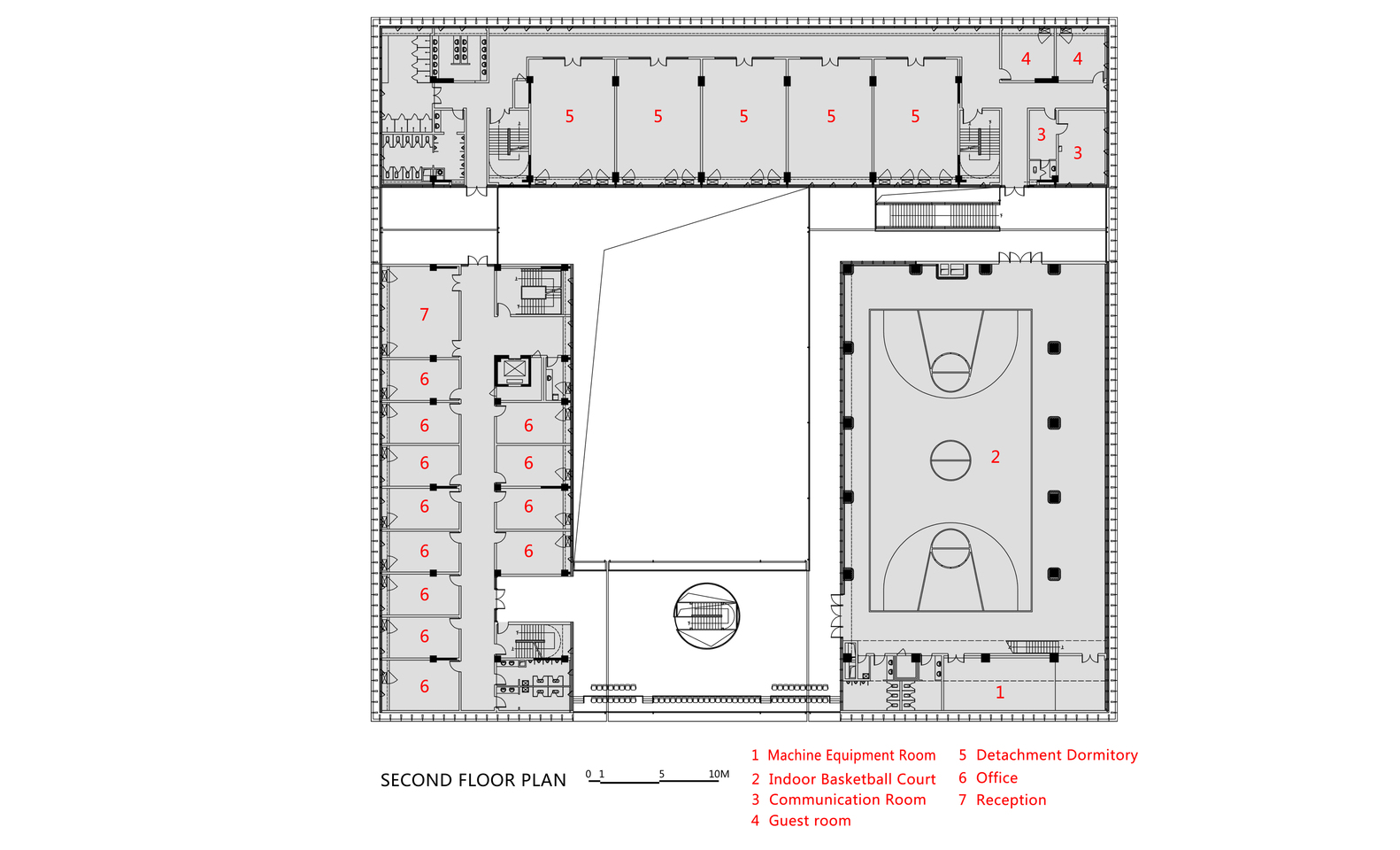 Gallery of Fire Station of Tianfu New District CSWADI 21 – Fire Station Floor Plans