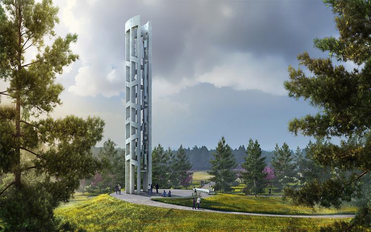 """Memorial """"Torre das Vozes"""" homenageia as vítimas do 11 de setembro, Cortesia de Arup"""