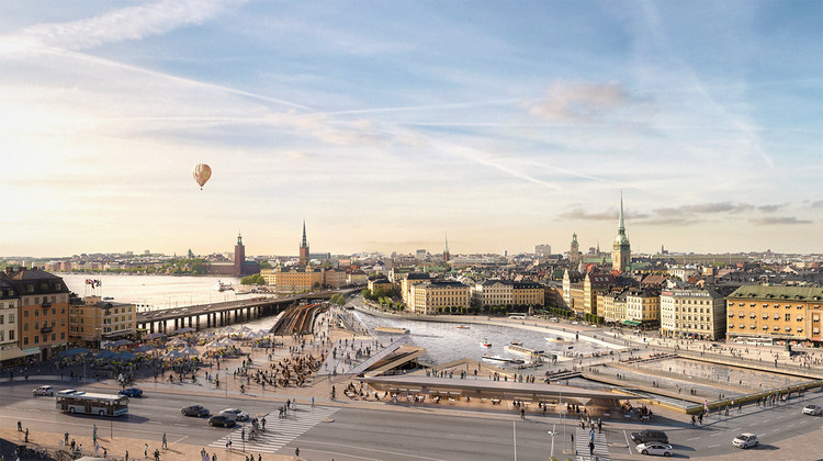Massive Redevelopment Plan in Stockholm Will Feature Terraced Building by Foster + Partners, © Foster + Partners