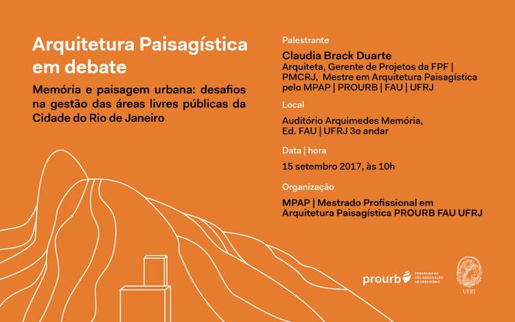 Arquitetura Paisagística em Debate, Cortesia de PROURB