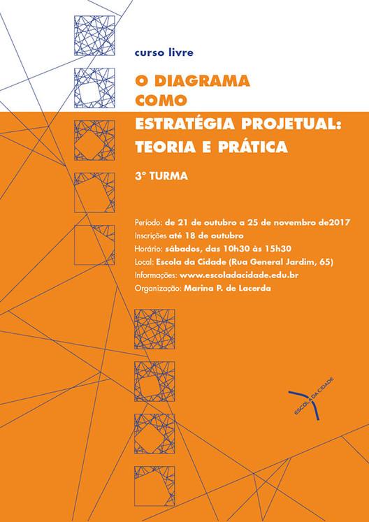 Curso Livre sobre Diagrama na prática arquitetônica, Inscrições abertas até 18 de outubro.
