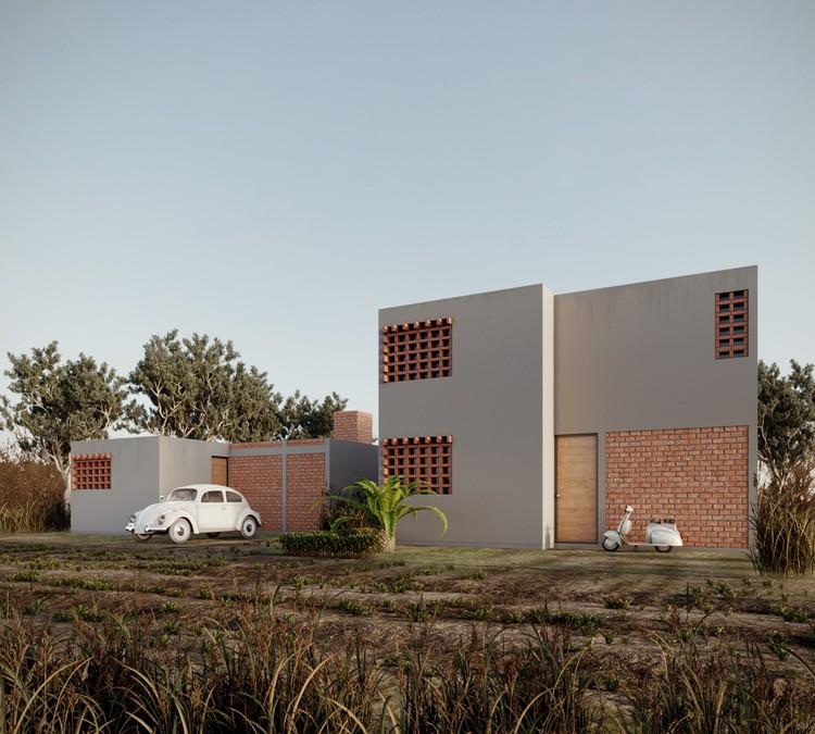 En Guanajuato, México: Prototipo para INFONAVIT, por SURarquitectura, Cortesía de SURarquitectura
