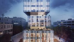 Shl caohejing technology hq elevated night beauty and the bit