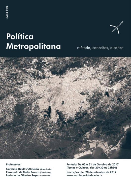 """Curso livre: """"Política metropolitana: método, conceitos, alcance"""", imagem de satélite da RMSP"""