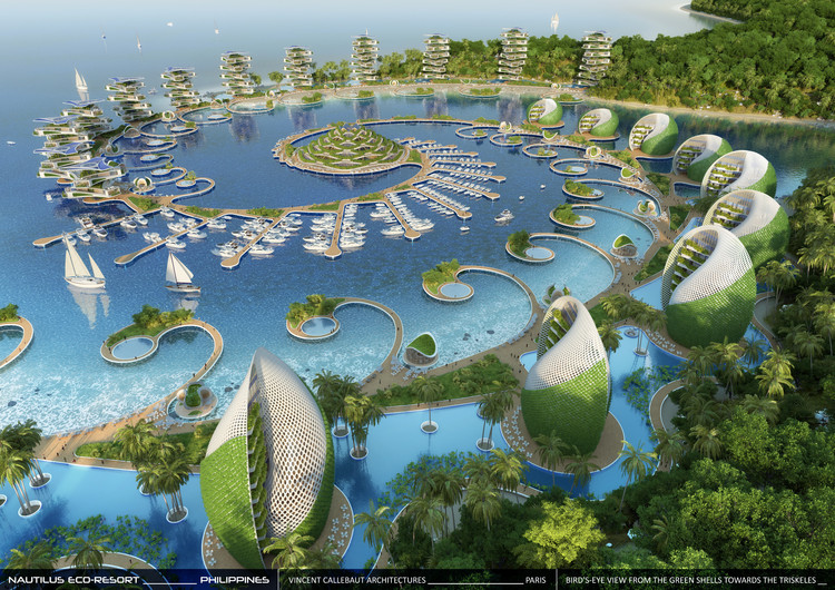 Vincent Callebaut Envisions Shell-Inspired Eco-Tourism Resort in The Philippines, Courtesy of Vincent Callebaut Architectures