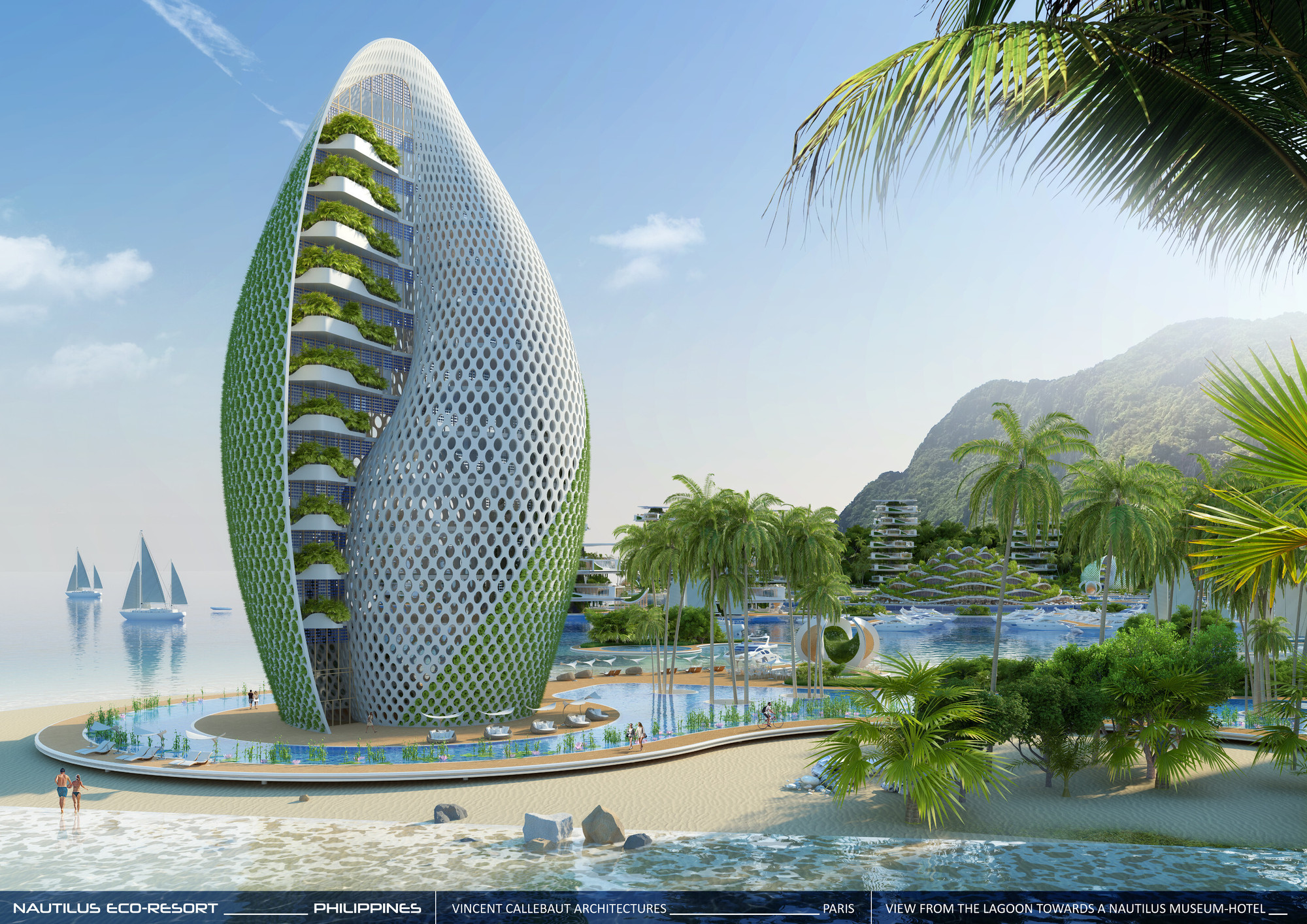 Gallery of Vincent Callebaut Envisions Shell Inspired Eco Tourism