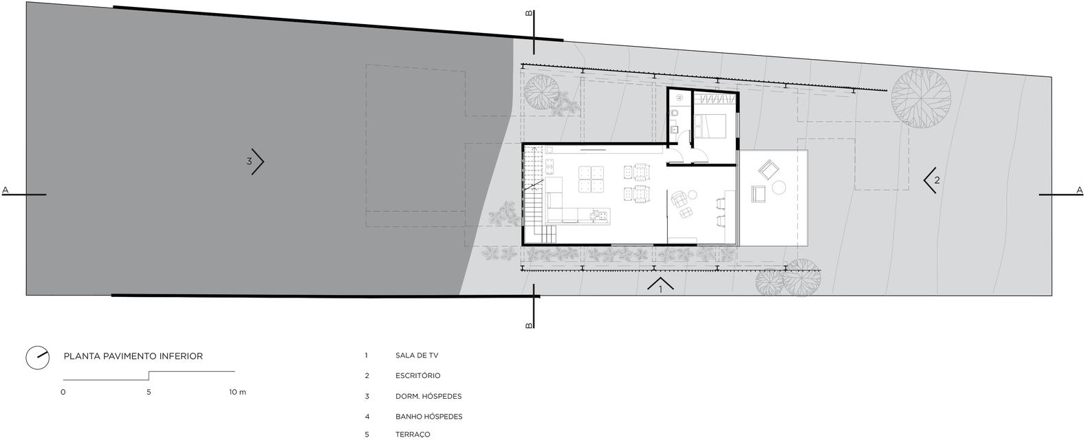 Gallery of mirante house fgmf arquitetos 26 mirante houselower floor plan ccuart Gallery