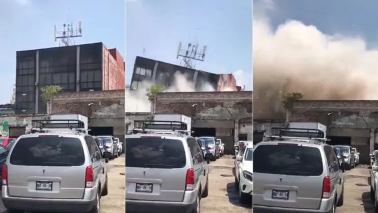 Many Feared Dead or Trapped After Earthquake Topples Buildings Throughout Mexico, The destruction of a building in Mexico following the 2017 earthquake. Image via Infobae