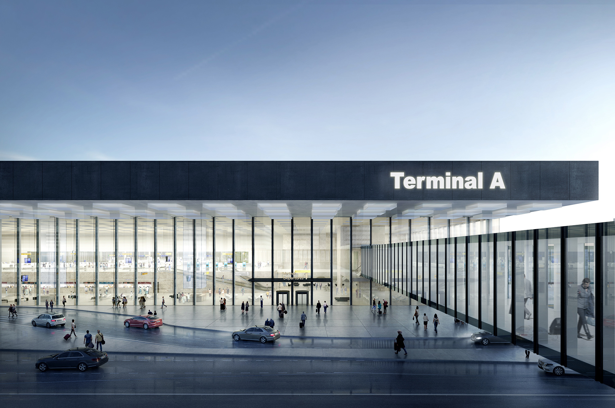 Kaan architecten designs glassy new terminal for amsterdam for International decor gates