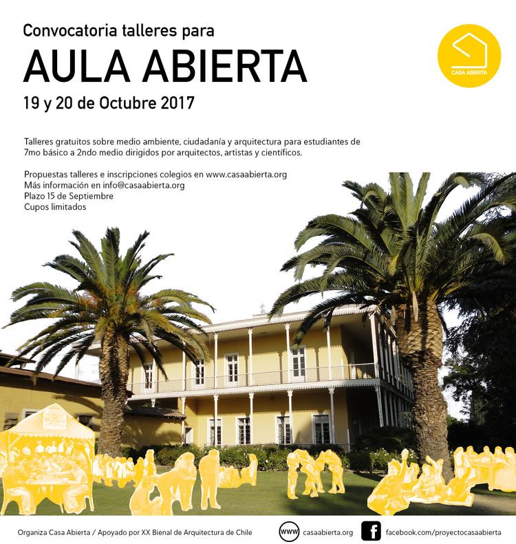 Convocatoria Talleres Aula Abierta / VI Región, Cortesía de Casa Abierta