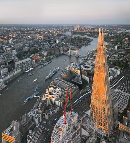 Torre London Bridge, 2000-2012, Londres (Reino Unido). Image © Jason Hawkes Aerial Photgraphy
