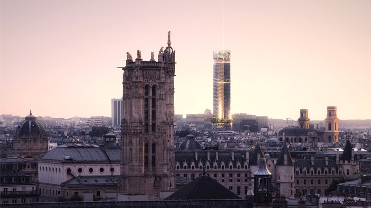 Nouvelle AOM Wins Competition to Redesign Paris' Tour Montparnasse, © Luxigon