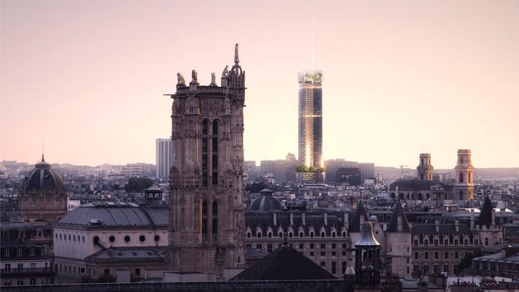 Nouvelle AOM gana concurso para rediseñar el Tour Montparnasse en París, © Luxigon