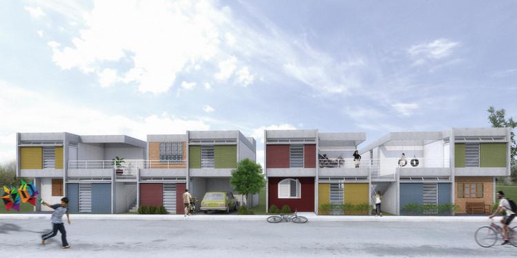 1º lugar no Grupo 3 do Concurso CODHAB para Habitação de Interesse Social, Cortesia de Térreo Arquitetos