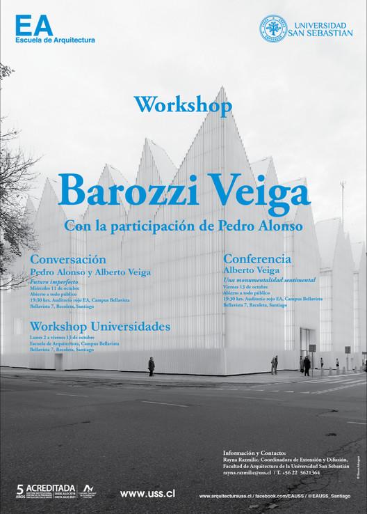 Alberto Veiga realizará workshop EA USS y serie de conferencias en Santiago, Escuela de Arquitectura, Universidad San Sebastián [EA USS]