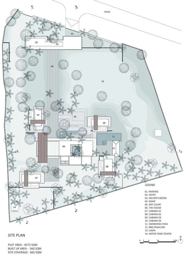 Gallery of The Portal House Reasoning Instincts Architecture – Plot Plan And Site Plan