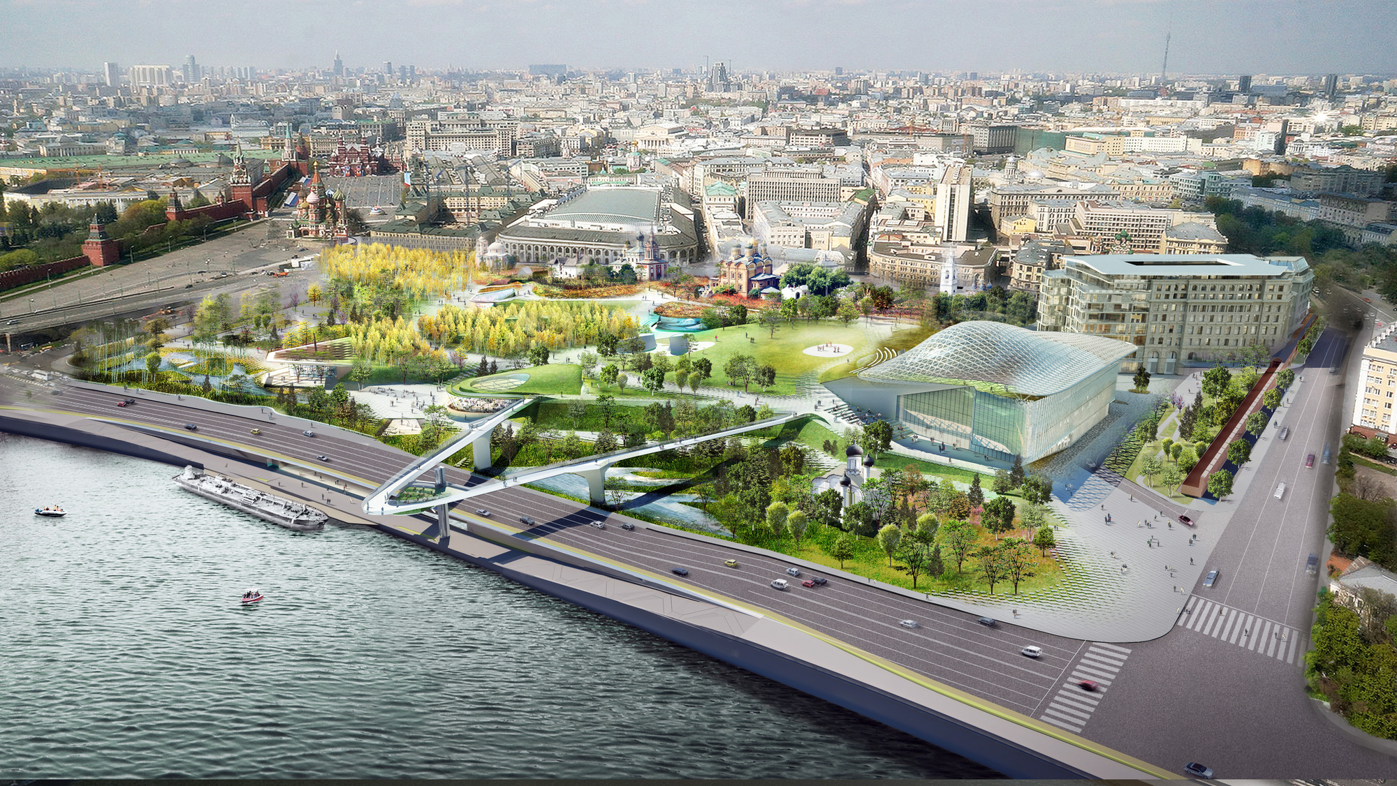 Gallery Of Moscow S New Pathless Park By Diller Scofidio