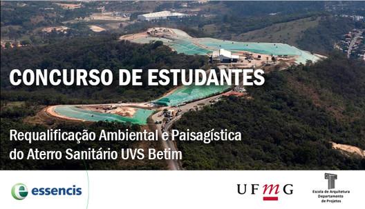 Concurso de Estudantes para Parque Urbano em Betim, MG, via UFMG