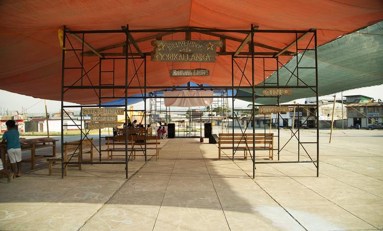 Qorikallanka: Centro Cultural temporal para Hawapi en Huepetuhe, Madre de Dios / Perú, Cortesía de ROMAN BAUER ARQUITECTOS