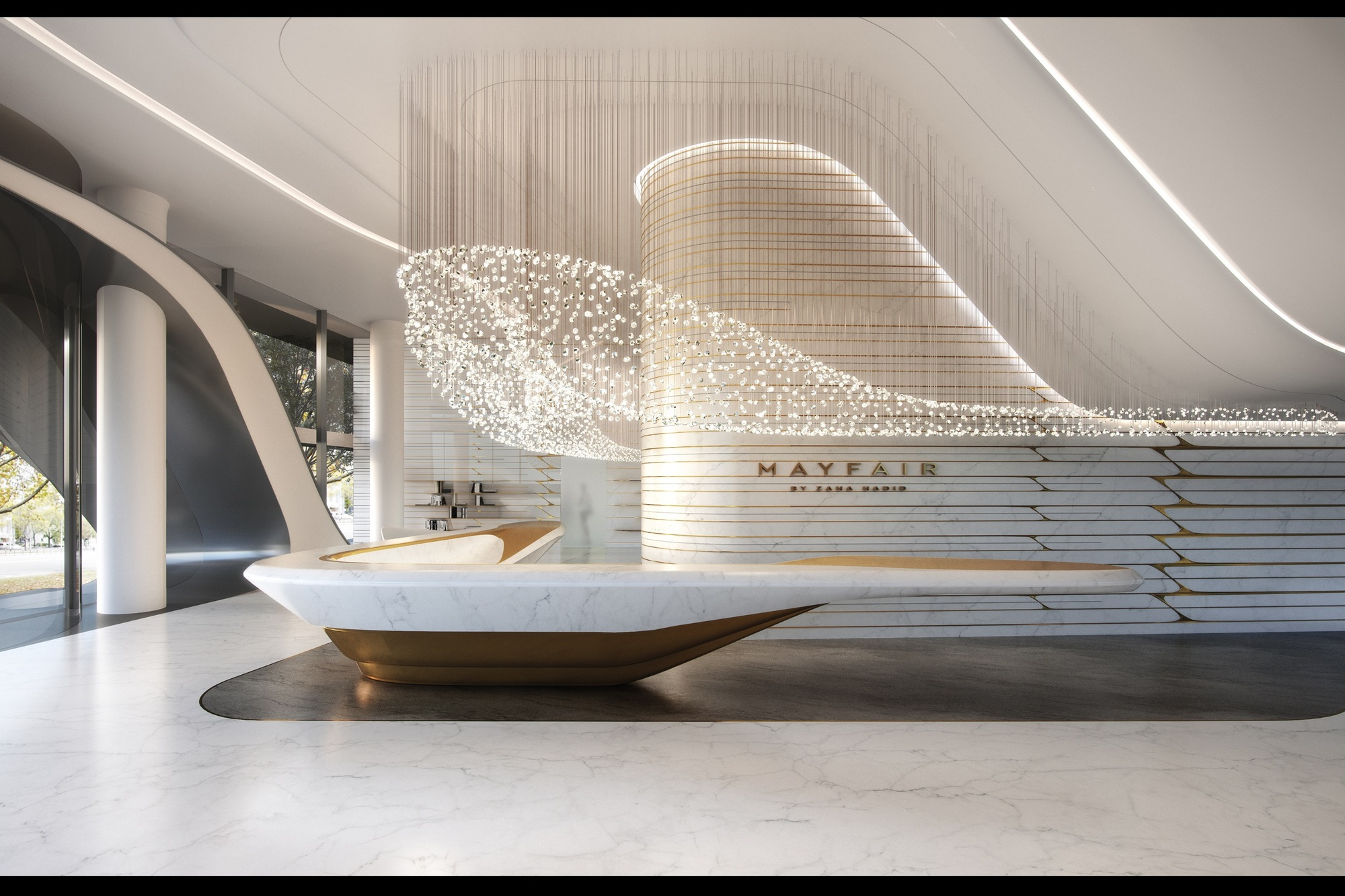 Gallery Of Zaha Hadid Architects Reveal Residential Tower In Melbourne Inspired By Australia 39 S