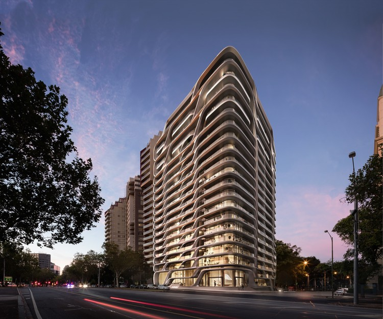 Zaha Hadid Architects Reveal Residential Tower in Melbourne Inspired by Australia's Natural Forms, © VA