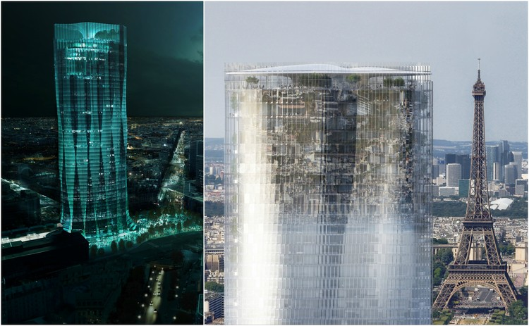 Runner-Up Proposals Revealed in Tour Montparnasse Competition, Proposals by Studio Gang and MAD Architects. Image
