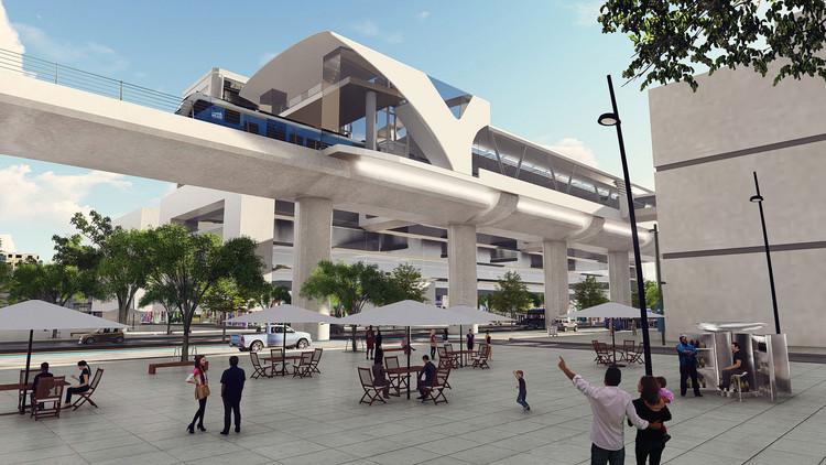 Colombia aprueba recursos para construir el metro de Bogotá, Render Metro de Bogotá. Image vía Difusión