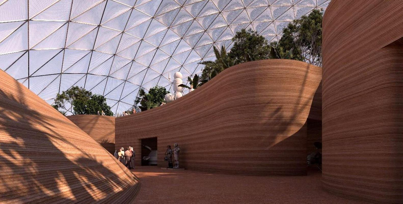 Mars Science City. foto : archdaily
