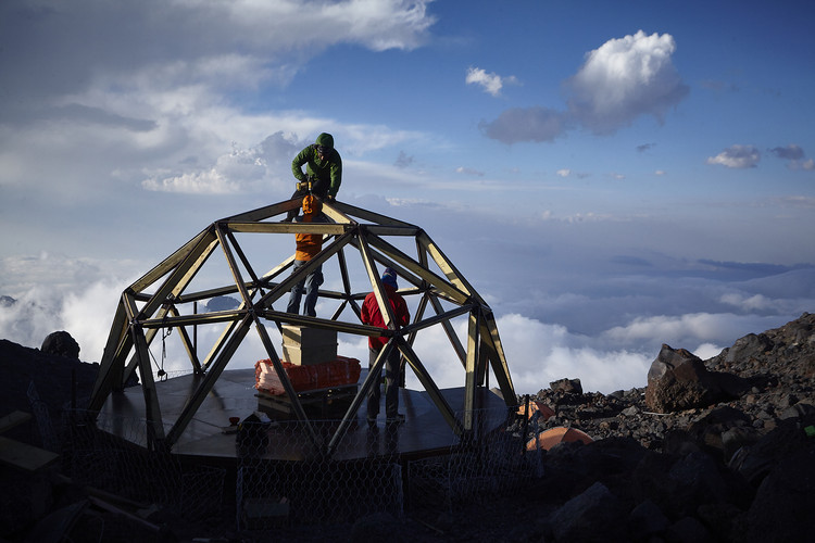 Lightweight and Compact Shelter Is The Last Base Before the Climb to the Highest Point in Europe, © Artem Oganov