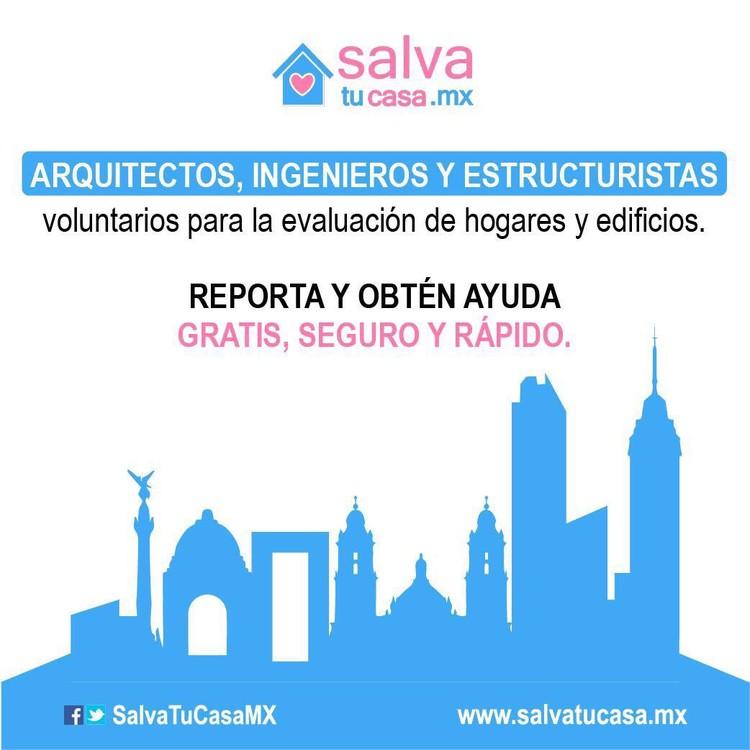 Llamado a arquitectos voluntarios en Ciudad de México: Salva Tu Casa, Cortesía de Salvatucasa