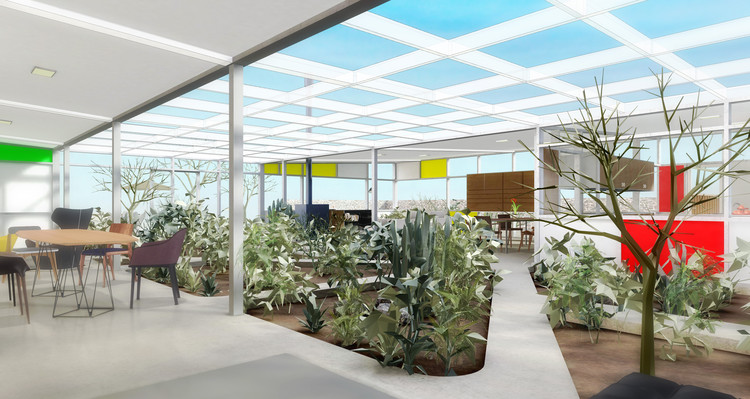 "A Virtual Look Inside Case Study House #4, Ralph Rapson's ""Greenbelt House"", Courtesy of Archilogic"