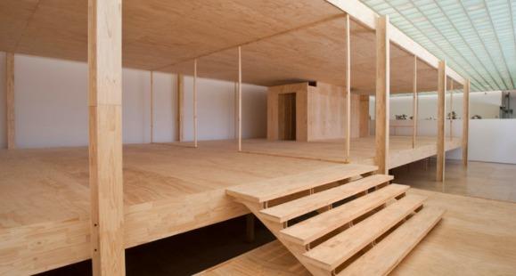Reinterpretaci n en madera de la casa farnsworth por - La casa de la madera valencia ...