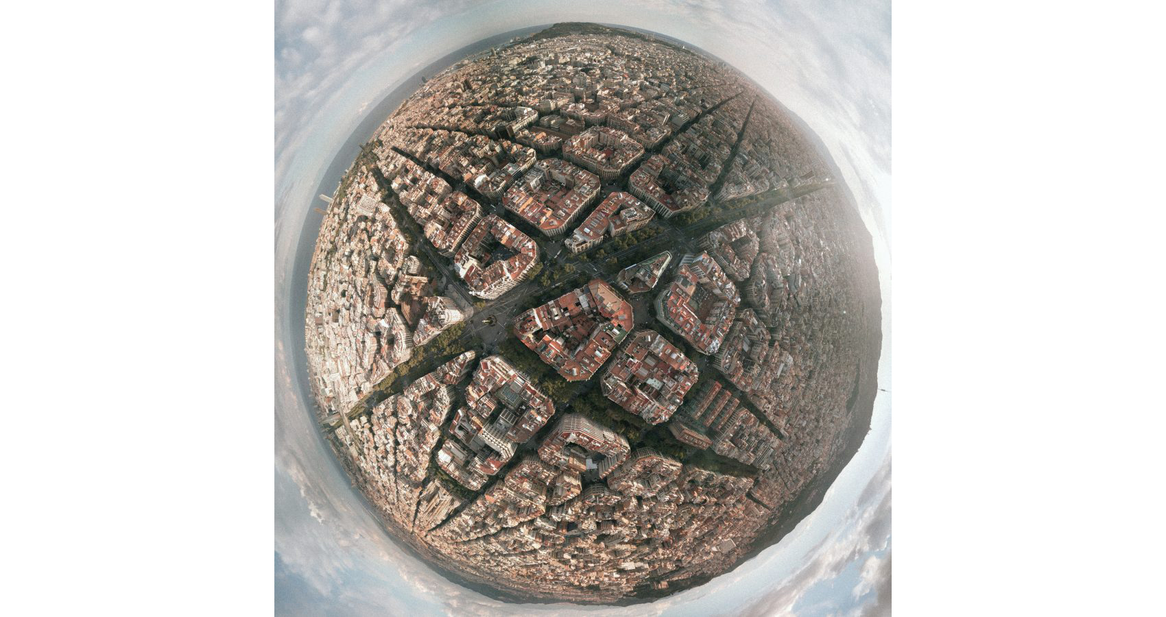 O Plano Cerdà de Barcelona de uma nova perspectiva nessa fotografia aérea