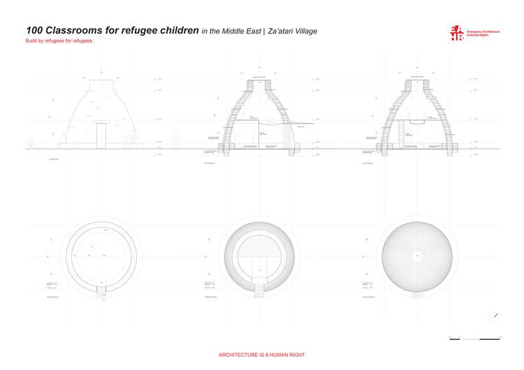 100 Salones de Clase para Niños Refugiados / Emergency