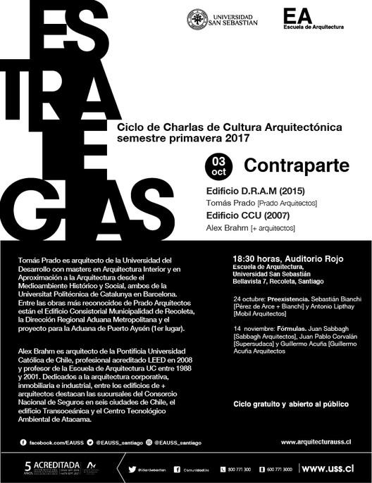 ESTRATEGIAS: Tomás Prado & Alex Brahm | CCCA USS | Primavera 2017, Escuela de Arquitectura, Universidad San Sebastián [EA USS]