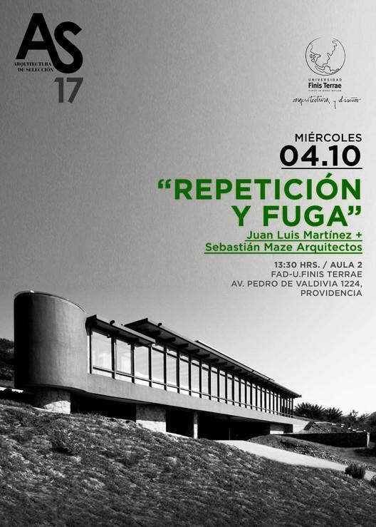 Conferencia 'Repetición y Fuga' a cargo de Juan Luis Martínez y Sebastián Maze