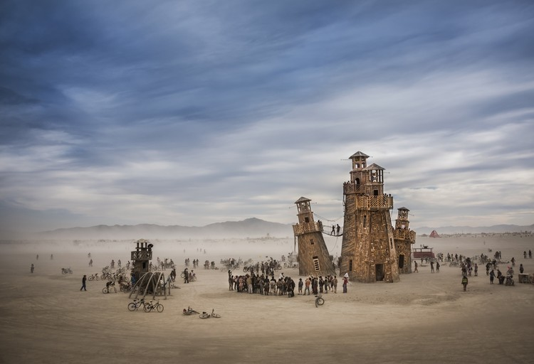 Black Rock Lighthouse Service in the Nevada desert (Burning Man), USA. Image © Tom Stahl