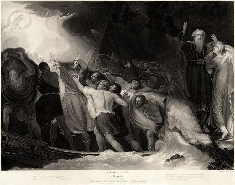 """El pabellón británico se transformará en un espacio de encuentro político en la Bienal de Venecia 2018, The shipwreck in Act I, Scene 1 in a 1797 engraving byBenjamin Smithafter a painting byGeorge Romney. Via <a href=""""https://en.wikipedia.org/wiki/The_Tempest#/media/File:George_Romney_-_William_Shakespeare_-_The_Tempest_Act_I,_Scene_1.jpg"""">Wikimedia Commons</a> licensed under <a href=""""https://creativecommons.org/publicdomain/zero/1.0/deed.en"""">CC0 1.0 (Public Domain)</a>. Image © Benjamin Smith"""