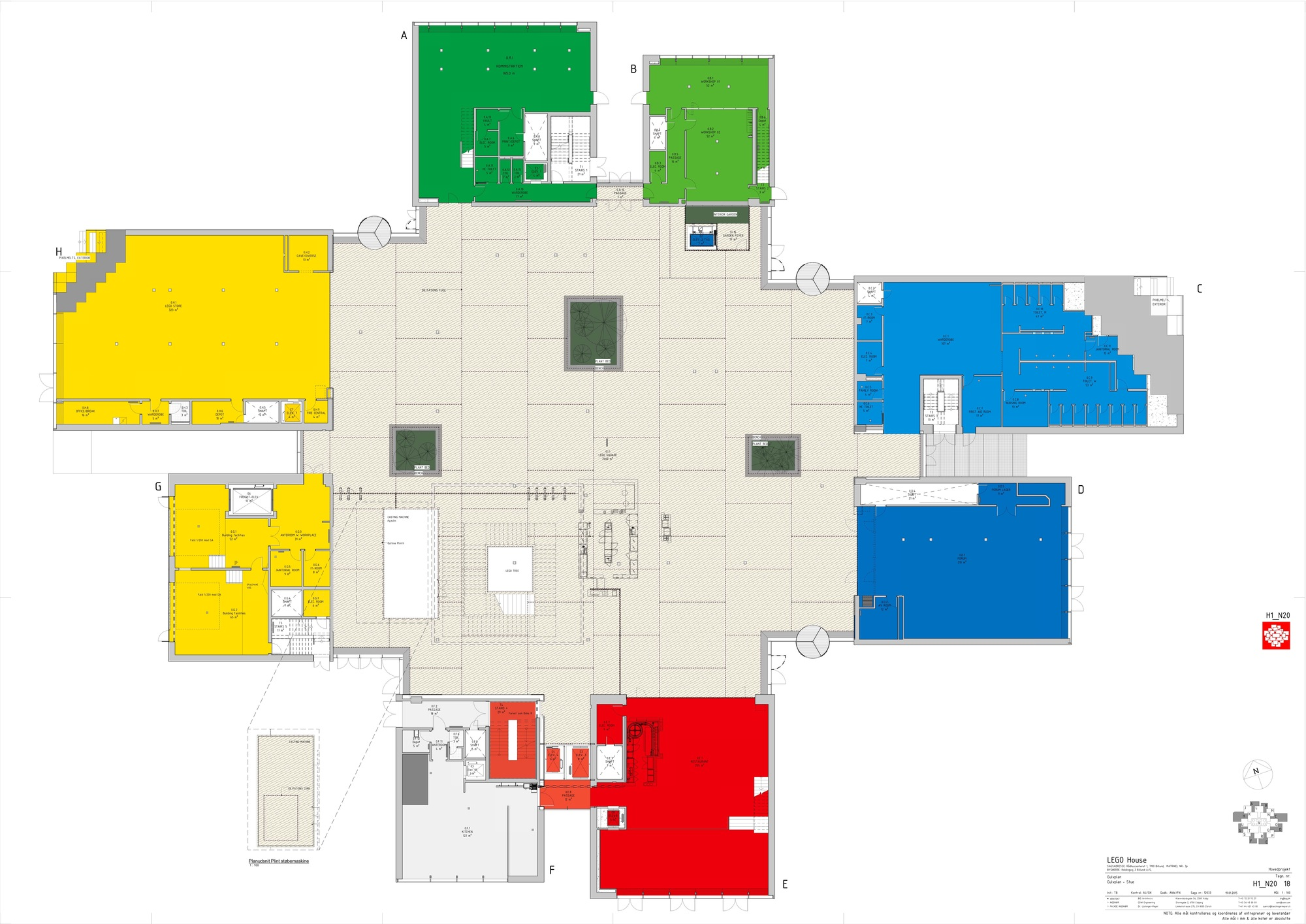 Gallery of lego house big 22 for Floor plans large houses