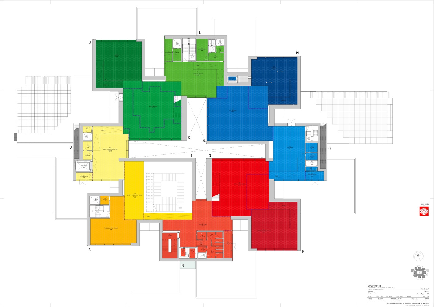 LEGO House,First Floor Plan Elevation