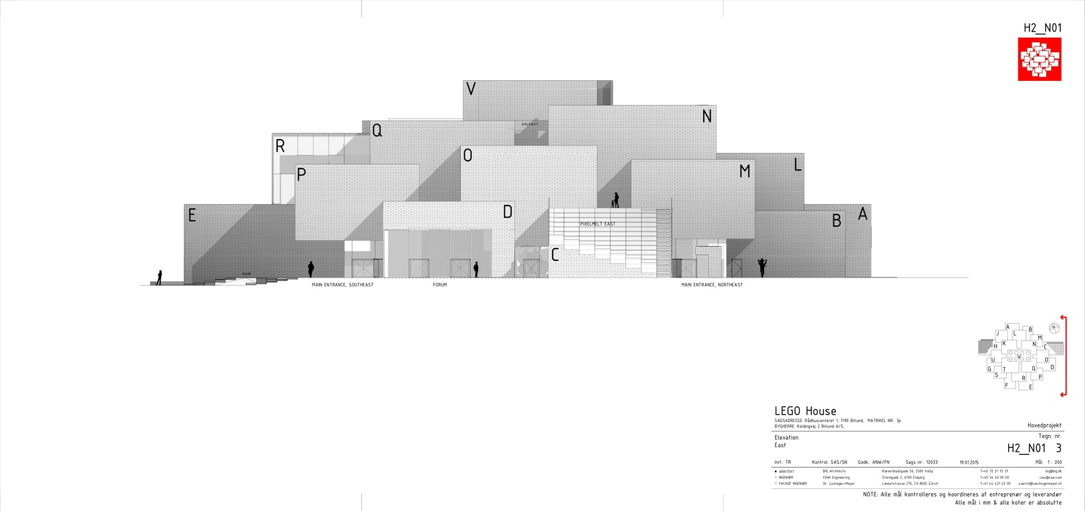 LEGO House,East Facade Elevation