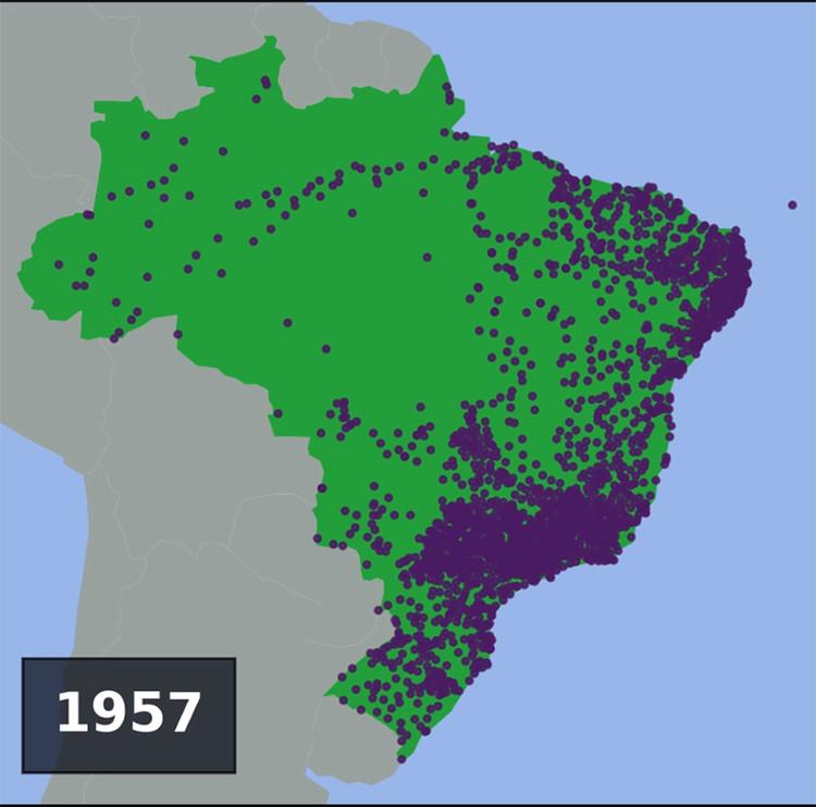 Vídeo apresenta o momento de fundação de 4.547 cidades brasileiras
