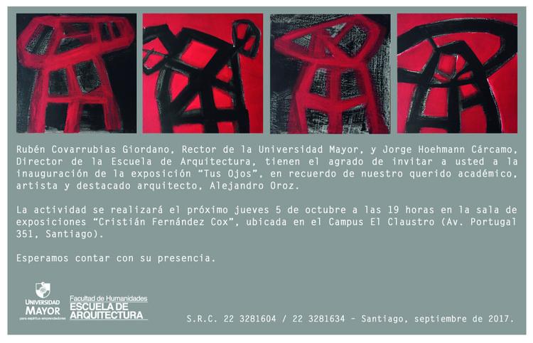Exposición 'Tus ojos' de Alejandro Oroz, Francisca Romero / Cuadro Alejandro oroz